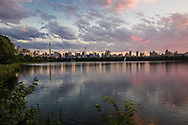 Sunset over the Reservoir in Central Park