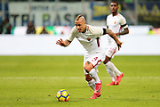 Radja Nainggolan of AS Roma during the Italian championship Serie A football match between FC Internazionale and AS Roma on January 21, 2018 at Giuseppe Meazza stadium in Milan, Italy - Photo Morgese - Rossini / ProSportsImages / DPPI