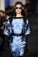 Ming Xi walks down runway for F2012 Prabal Gurung's collection in Mercedes Benz fashion week in New York on Feb 10, 2012 NYC