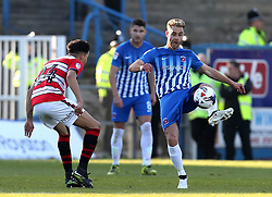 Nicky Deverdics of Hartlepool United passes the ball - Mandatory by-line: Robbie Stephenson/JMP - 06/05/2017 - FOOTBALL - The Northern Gas and Power Stadium (Victoria Park) - Hartlepool, England - Hartlepool United v Doncaster Rovers - Sky Bet League Two
