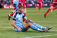SYDNEY, NSW- NOVEMBER 21: Sydney FC defender Jordy Buijs (5) at the FFA Cup Final Soccer between Sydney FC and Adelaide United on November 21, 2017 at Allianz Stadium, Sydney. (Photo by Steven Markham/Icon Sportswire)