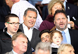 TV Presenter and Honorary President of Hartlepool United Jeff Stelling and Chief Executive of Hartlepool United Russ Green - Mandatory byline: Robbie Stephenson/JMP - 07966 386802 - 10/10/2015 - FOOTBALL - Sixfields Stadium - Northampton, England - Northampton Town v Hartlepool - Sky Bet League Two