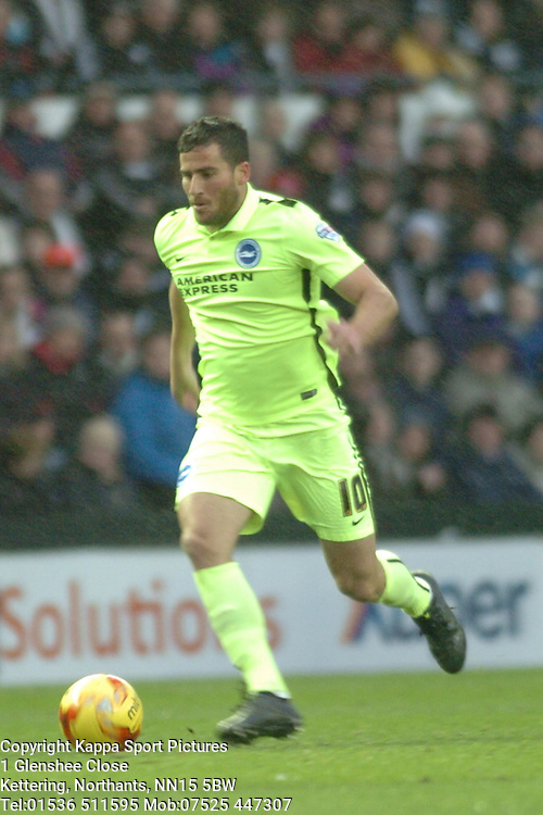 Tomer Hemed Brighton  Brighton & Hove Albion, Derby County v Brighton &Hove Albion, IPro Stadium, Sky Bet Championship,  Saturday 12th December 2015