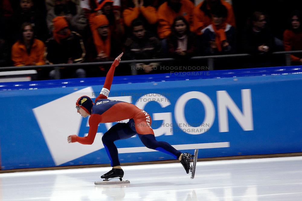 27-01-2007 SCHAATSEN: ESSENT WORLDCUP SPRINT: HEERENVEEN<br /> Dmitry Lobkov RUS - Securicor<br /> &copy;2007-WWW.FOTOHOOGENDOORN.NL