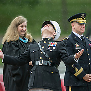 As a pouring rain threatened commencement exercises at Valley Forge Military Academy Colonel John Church Jr., the schools president, threw open his hands and looked skyward. National Security Advisor Lt. General H.R. McMaster, himself a graduate, stood by unabashed.