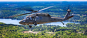 Sikorsky UH-60 Black Hawk helicopter, operated by the South Carolina National Guard.<br /> <br /> Created by aviation photographer John Slemp of Aerographs Aviation Photography. Clients include Goodyear Aviation Tires, Phillips 66 Aviation Fuels, Smithsonian Air & Space magazine, and The Lindbergh Foundation.  Specialising in high end commercial aviation photography and the supply of aviation stock photography for advertising, corporate, and editorial use.