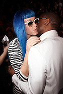 PARIS, FRANCE - MARCH 08:  Katy Perry and Kanye West attends the Jean-Charles de Castelbajac Ready to Wear Autumn/Winter 2011/2012 show during Paris Fashion Week at Pavillon Concorde on March 8, 2011 in Paris, France.  (Photo by Tony Barson/WireImage)