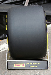 February 20, 2019 - Barcelona, Spain - medium tire during the Formula 1 test in Barcelona, on 20th February 2019, in Barcelona, Spain. (Credit Image: © Joan Valls/NurPhoto via ZUMA Press)
