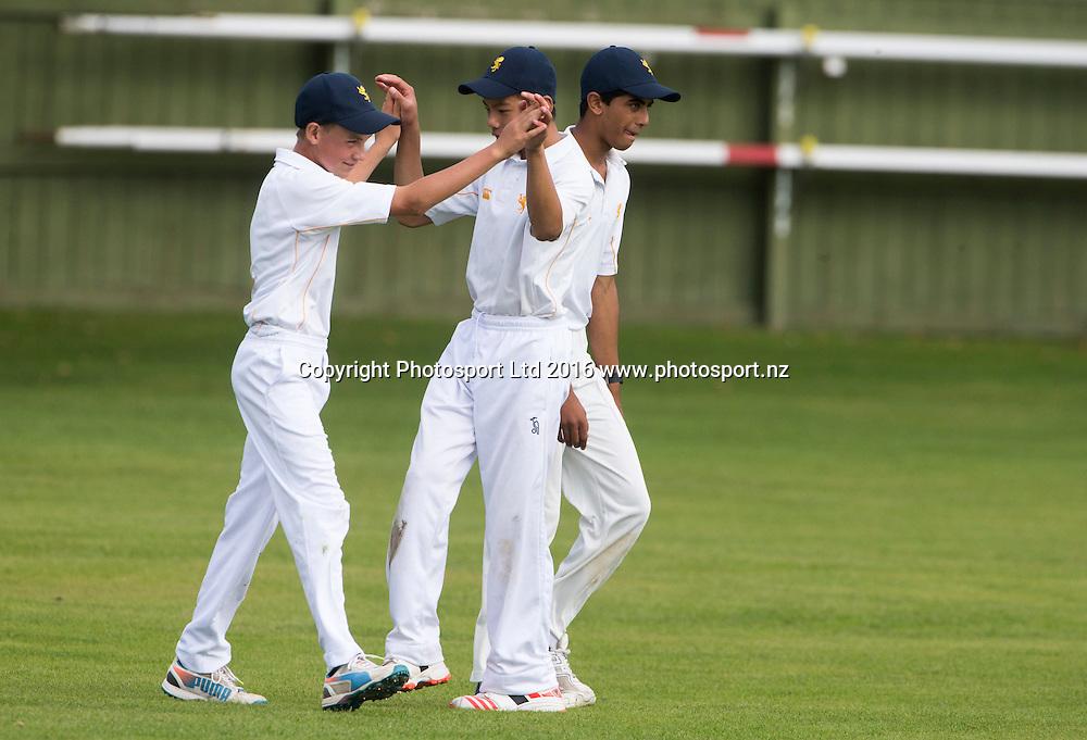 NZCT Junior Secondary Boys cricket, Fitzherbert Park, Palmerston North, New Zealand. Friday, 08 April, 2016. Copyright photo: John Cowpland / www.photosport.nz