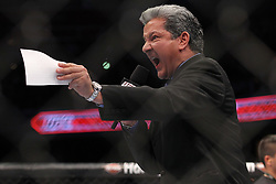 October 1, 2011; Washington D.C.; USA; Bruce Buffer before the main event at UFC on Versus 6.