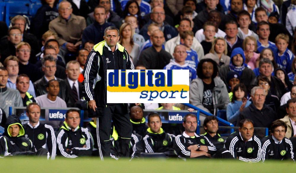 Photo: Richard Lane/Sportsbeat Images.<br />Chelsea v Rosenborg. UEFA Champions League Group B. 18/09/2007. <br />Chelsea manager, Jose Mourinho.