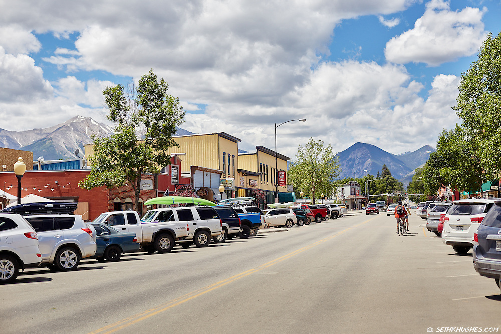Summer on Main Street in Buena Vista, Colorado.
