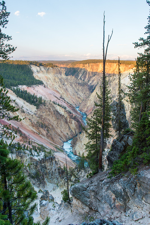 Looking over the Yellowstone River from Inspiration Point. <br />