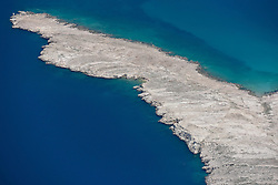 21.06.2015, Pag, CRO, Insel Pag, Die kroatische Insel Pag befindet sich an der Adria-K&uuml;ste n&ouml;rdlich von Zadar in Norddalmatien. Pag hat eine L&auml;nge von 58,25 km und ist mit 284,18 Quadratkilometern der Fl&auml;che nach die f&uuml;nftgr&ouml;&szlig;te Insel der Adria, im Bild View of Pag Bridge. // The Croatian island of Pag is located on the Adriatic coast north of Zadar in northern Dalmatia. Pag has a length of 58.25 km and is 284.18 square kilometers of the area after the fifth largest island in the Adriatic, pitured on 13. June in Pag, Croatia on 2015/06/21. EXPA Pictures &copy; 2015, PhotoCredit: EXPA/ Pixsell/ Dino Stanin<br /> <br /> *****ATTENTION - for AUT, SLO, SUI, SWE, ITA, FRA only*****