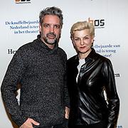 NLD/Amsterdam/20191211 - Hendrik Groen-voorstelling in premiere, Mariana Verkerk en partner