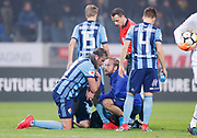 SOLNA, SWEDEN - MARCH 18: Jonas Olsson of Djurgardens IF injured during the Swedish Cup Semifinal between AIK and Djurgardens IF at Friends arena on March 18, 2018 in Solna, Sweden. Photo by Nils Petter Nilsson/Ombrello ***BETALBILD***