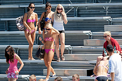 Girls at A1 Beach Volleyball Grand Slam presented by ERGO tournament of Swatch FIVB World Tour 2012, on July 17, 2012 in Klagenfurt, Austria. (Photo by Matic Klansek Velej / Sportida)