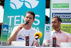 Gregor Krusic (director of Tennis Slovenia) and Aljaz Kos (director of Zavarovalnica Sava) at press conference of ATP Challenger Zavarovalnica Sava Slovenia Open 2018, on August 6, 2018 in Sports centre, Portoroz/Portorose, Slovenia. Photo by Urban Urbanc / Sportida