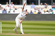 Yorkshire's Jack Brooks during the Specsavers County Champ Div 1 match between Somerset County Cricket Club and Yorkshire County Cricket Club at the County Ground, Taunton, United Kingdom on 16 May 2016. Photo by Graham Hunt.