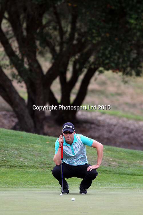 Daniel Valente during the Holden NZPGA Championship at Remuera Golf Course in Auckland, New Zealand. Friday 6 March 2015. Copyright photo: William Booth / www.Photosport.co.nz