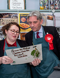 Pictured: <br />Richard Leonard MSP wasx in Penicuik, Midlothian, with PPC, Danielle Rowley to discuss Labour's plans to for a cleaner, greener, environmentally sustainable future for Scotland.<br /><br />Ger Harley | EEm 28 November4 2019