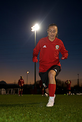 CARDIFF, WALES - Wednesday, January 16, 2019: Wales' Natasha Harding during a training session at Dragon Park ahead of the International Friendly game against Italy. (Pic by David Rawcliffe/Propaganda)