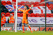 AFC Wimbledon goalkeeper George Long (1), on loan from Sheffield United, in action  during the EFL Sky Bet League 1 match between Doncaster Rovers and AFC Wimbledon at the Keepmoat Stadium, Doncaster, England on 1 May 2018. Picture by Simon Davies.