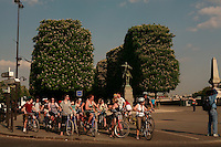 Americans on a bike tour of Paris - Photograph by Owen Franken