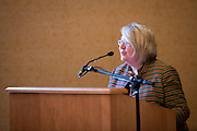 Pam Benoit, Executive Vice President and Provost, congratulates the winners of the 2016 Faculty Awards and Recognition Ceremony at Ohio University's Baker University Center on Tuesday, September 6, 2016.