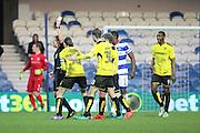 Burton Albion midfielder Jackson Irvine (36) yellow card during the EFL Sky Bet Championship match between Queens Park Rangers and Burton Albion at the Loftus Road Stadium, London, England on 28 January 2017. Photo by Matthew Redman.