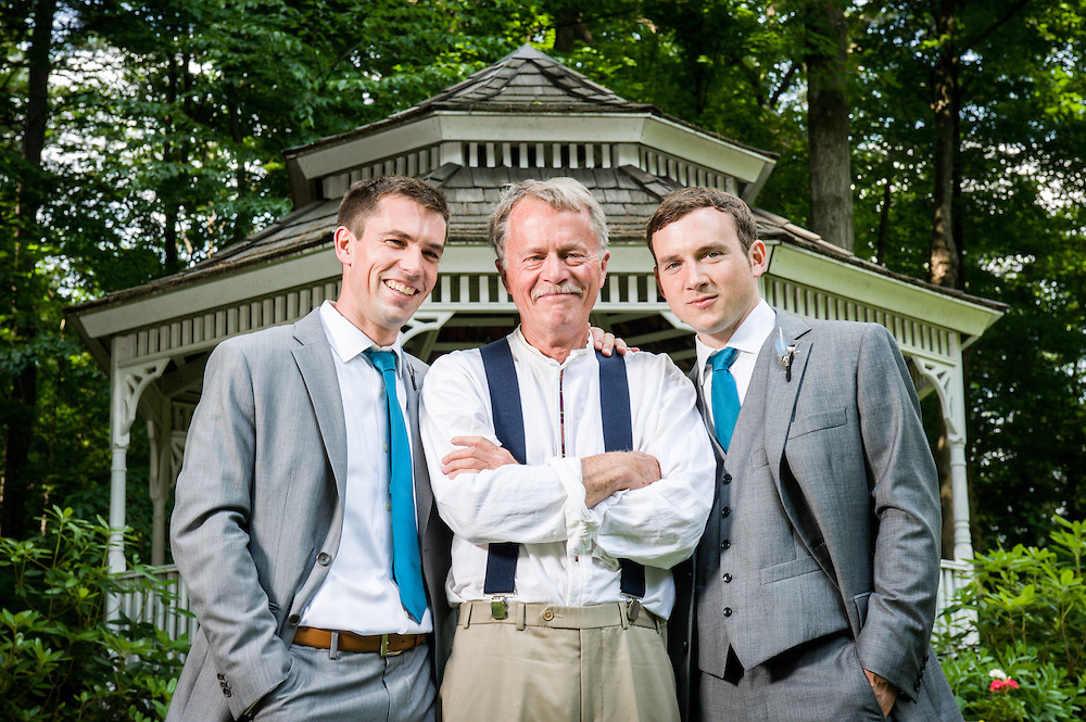The groom with his dad and brother in Brattleboro, VT.
