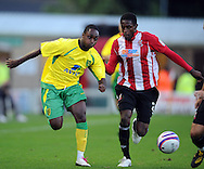 Lincoln - Wednesday, July 28th, 2010: Norwichs's Anthony Mcnamee  in action during the Pre Season friendly match at Sincil Bank. (Pic by Andrew Stunell/Focus Images)
