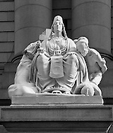 One of the sculptures representing four continents. Asia, by sculptor Daniel Chester French, 1907.  US Customs House, Bowling Green, New York, NY