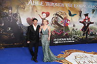 Johnny Depp, Mia Wasikowska, Alice Through The Looking Glass - European film premiere, Leicester Square gardens, London UK, 10 May 2016, Photo by Richard Goldschmidt