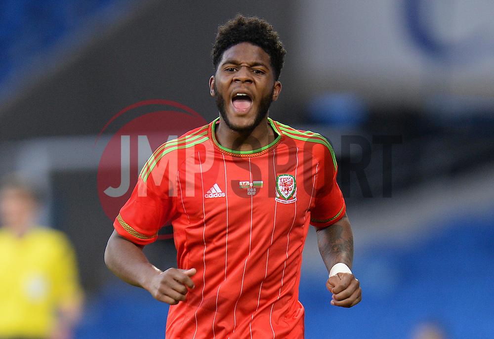 Ellis Harrison of Wales u21s (Bristol Rovers) - Photo mandatory by-line: Alex James/JMP - Mobile: 07966 386802 - 31/03/2015 - SPORT - Football - Cardiff - Cardiff City Stadium - Wales v Bulgaria - U21s International Friendly