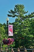 Tourism sign, Bala, Ontario, Canada