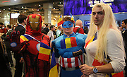 Romania super fans during the Rugby World Cup Pool D match between France and Romania at the Queen Elizabeth II Olympic Park, London, United Kingdom on 23 September 2015. Photo by Matthew Redman.