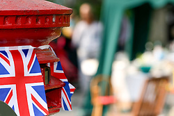 Cambridge, UK  29/04/2011. The Royal Wedding of HRH Prince William to Kate Middleton. A red Pillar box decorated for the a Street Party in Cambridge city centre. Photo credit should read Jason Patel/LNP. Please see special instructions. © under license to London News Pictures