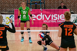 26-10-2019 NED: Dros Alterno - Set Up 65, Apeldoorn<br /> Round 4 of Eredivisie volleyball - Yvette Visser #1 of Alterno, Anna Zijl #15 of Alterno