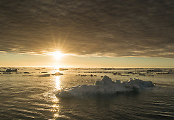 Drifting ice in Hilopen, Svalbard, Norway