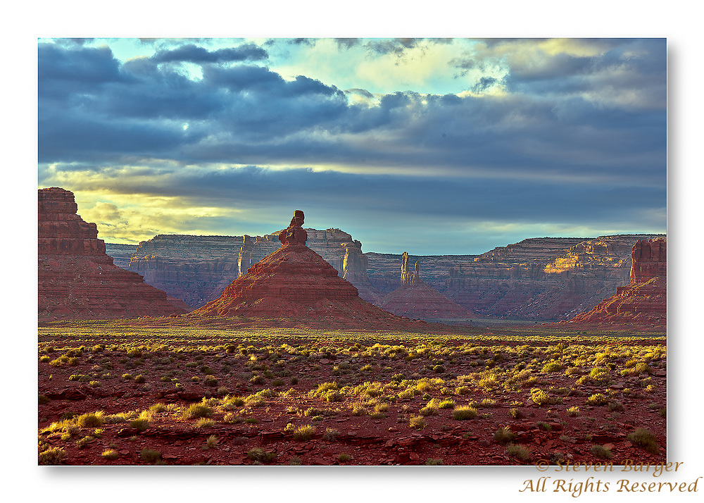 Valley of the Gods at Sunset with strong directional light