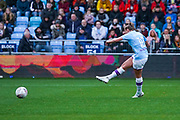 Manchester City Women forward Georgia Stanway (10) scores a goal to make the score 3-0 during the FA Women's Super League match between Manchester City Women and West Ham United Women at the Sport City Academy Stadium, Manchester, United Kingdom on 17 November 2019.