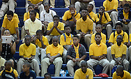 Atlanta - August 7, 2013: Young African American male students sit and listen to former Atlanta Mayor and United Nations Ambassador Andrew Young speak on the first day of school at B.E.S.T Academy (Business Engineering Science Technology) on Wednesday, August 7, 2013.  Over 80 members of the 100 Black Men of Atlanta greeted the African American boys and their parents as they arrived at school.  The boys were inspired by  Young to become leaders in the community.  Young spoke to boys in the middle school and high School.  The school is an all male school.  Today was the first day back to school for students in Atlanta.  ©2012 Johnny Crawford