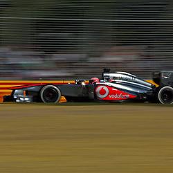 F1 Australian Grand Prix 15 March 2013 Practice Session 2.Practice Session 2. Jenson Button Vodafone McLaren Mercedes turn 7.(c) MILOS LEKOVIC | StockPix.eu