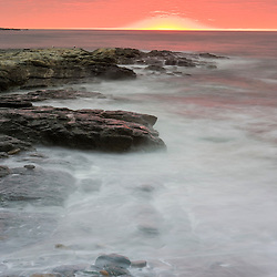 Sunrise near Brenton Point State Park on Ocean Road in Newport, Rhode Island.