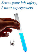 Humourous quote: Screw your lab safety, I want superpowers