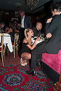 ALICE DELLAL; JAMIE HINCE, Dinner hosted by Elizabeth Saltzman for Mario Testino and Kate Moss. Mark's Club. London. 5 June 2010. -DO NOT ARCHIVE-© Copyright Photograph by Dafydd Jones. 248 Clapham Rd. London SW9 0PZ. Tel 0207 820 0771. www.dafjones.com.