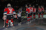 KELOWNA, CANADA - DECEMBER 03:  Pepsi Player of the game in the line up at the Kelowna Rockets game on December 03, 2016 at Prospera Place in Kelowna, British Columbia, Canada.  (Photo By Cindy Rogers/Nyasa Photography,  *** Local Caption ***  Brodan Salmond #31 of the Kelowna Rockets, James Hilsendager #2 of the Kelowna Rockets, Cal Foote #25 of the Kelowna Rockets, Dillon Dube #19 of the Kelowna Rockets, Nick Merkley #10 of the Kelowna Rockets, Rodney Southam #17 of the Kelowna Rockets