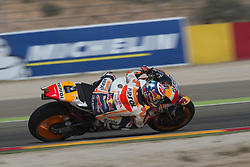 September 23, 2017 - AlcañIz, Teruel, Spain - 26 Dani Pedrosa (Spanish) Repsol Honda Team Honda in the qualifying of the Gran Premio Movistar de Aragon, Circuit of Motorland, Alcañiz, Spain. Saturday, 23rd september, 2017. (Credit Image: © Jose Breton/NurPhoto via ZUMA Press)