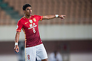 GUANGZHOU, CHINA - FEBRUARY 24:  Paulinho of Guangzhou Evergrande reacts during the Guangzhou Evergrande FC v Pohang Steelers match as part of the AFC Champions League 2016 at Guangzhou Tianhe Sport Center on February 24, 2016 in Guangzhou, China.  (Photo by Aitor Alcalde Colomer/Getty Images)